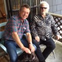 Andy with Al Kooper, September 2015, organist on the Highway 61 sessions.